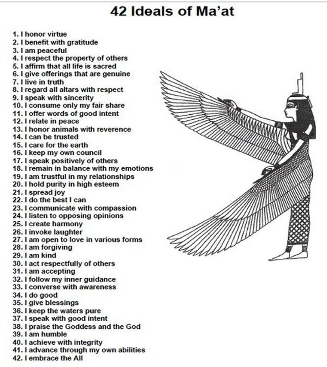 egyptian 42 commandments